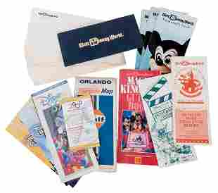 Lot of Walt Disney World Brochures Advertisements and