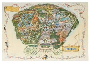 Disneyland 2001 Souvenir Map