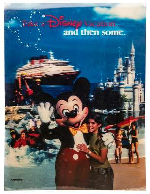 Large Lenticular Disney Vacation Poster