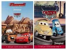 Set of Two Cars Land opening day posters.