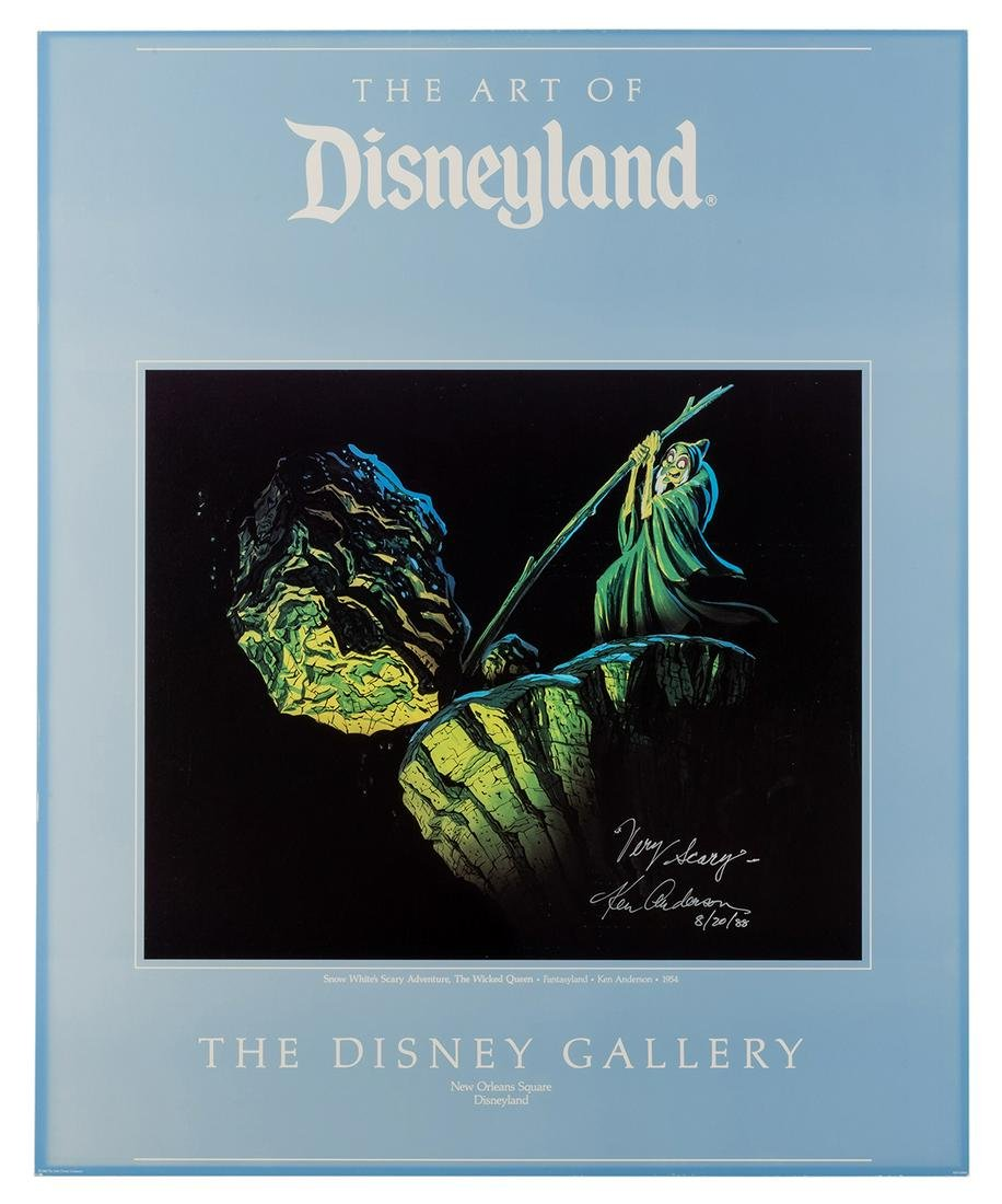 Disney Gallery signed poster depicting the Old Hag in