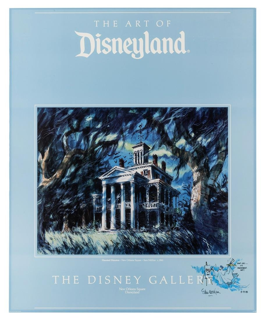 Disney Gallery signed poster concept art of the Haunted