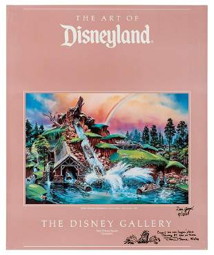 Disney Gallery signed Splash Mountain concept art