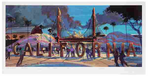 California Adventure signed opening day lithograph.