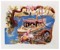 Jungle Cruise concept art signed lithograph