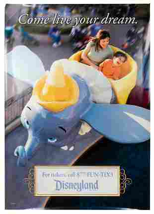 Dumbo Attraction Bus Stop Poster