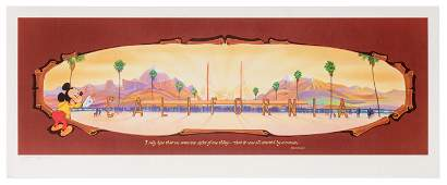 California Adventure Opening Day signed lithograph.