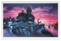Disneyland Paris Phantom Manor concept art signed
