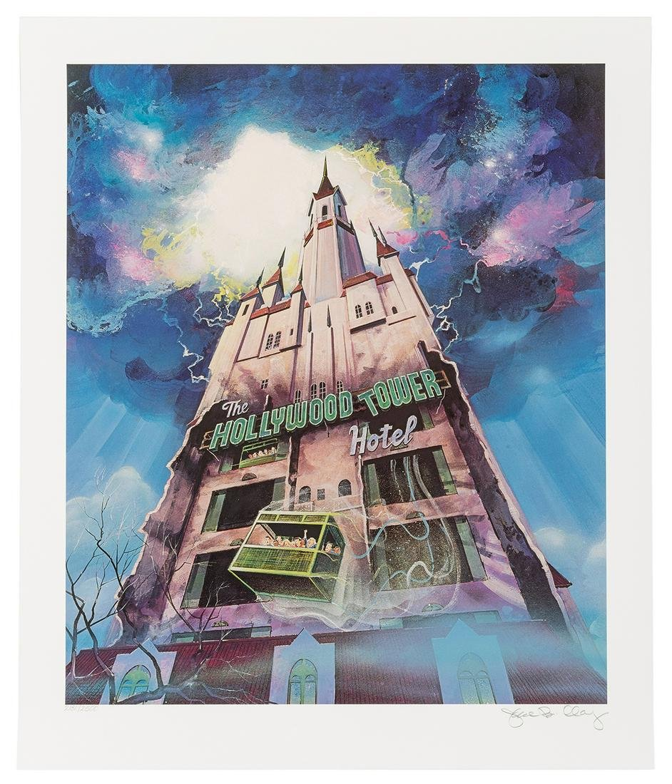 Tower of Terror cast member signed poster
