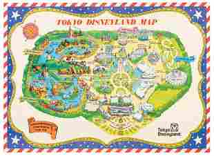 PreOpening Tokyo Disneyland Map