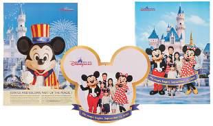 Lot of 3 Hong Kong Disneyland posters