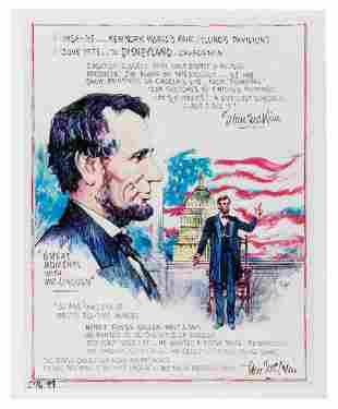 Great Mr Lincoln photo of artwork