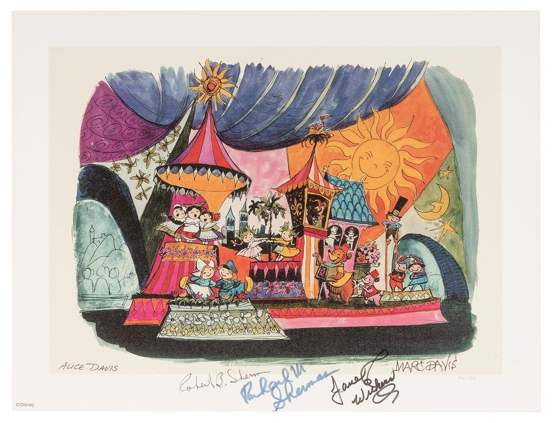 It's a Small World Lithograph.