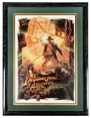 Indiana Jones Adventure attraction poster framed signed