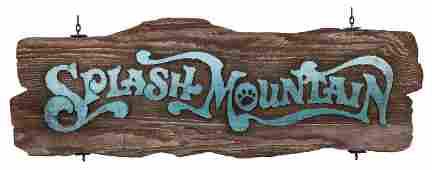 Original Walt Disney World Splash Mountain Exit Sign.