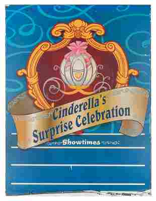 Cinderellas Surprise Celebration metal sign
