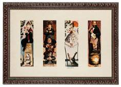 Haunted Mansion stretching portraits photolithographic