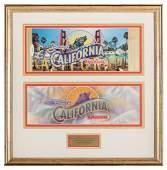 California Opening Day Commemorative Passport.