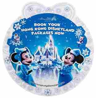 Hong Kong Disneyland Holiday POP Advertising display