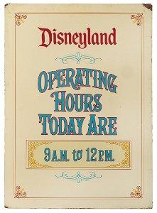 Original silk-screened heavy metal Disneyland Operating