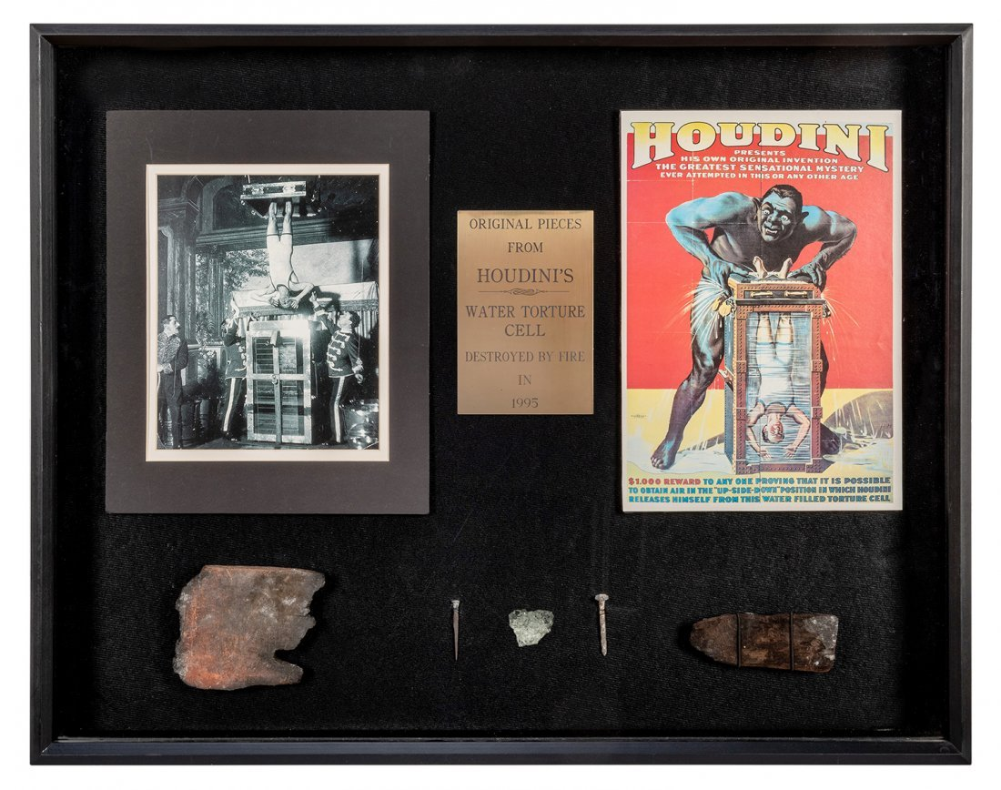 Fragments of Houdini's Water Torture Cell.