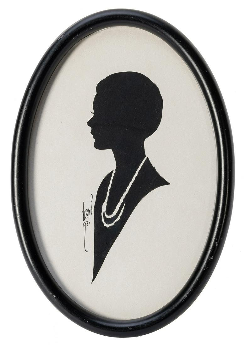 Dai Vernon Silhouette of a Young Woman.