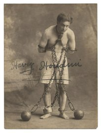 Houdini, Harry (Ehrich Weisz). Signed Photograph of