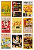 Lot of Eight Vintage Magic Window Cards. American