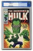 Incredible Hulk #115. Marvel Comics, 1969. CGC 9.0