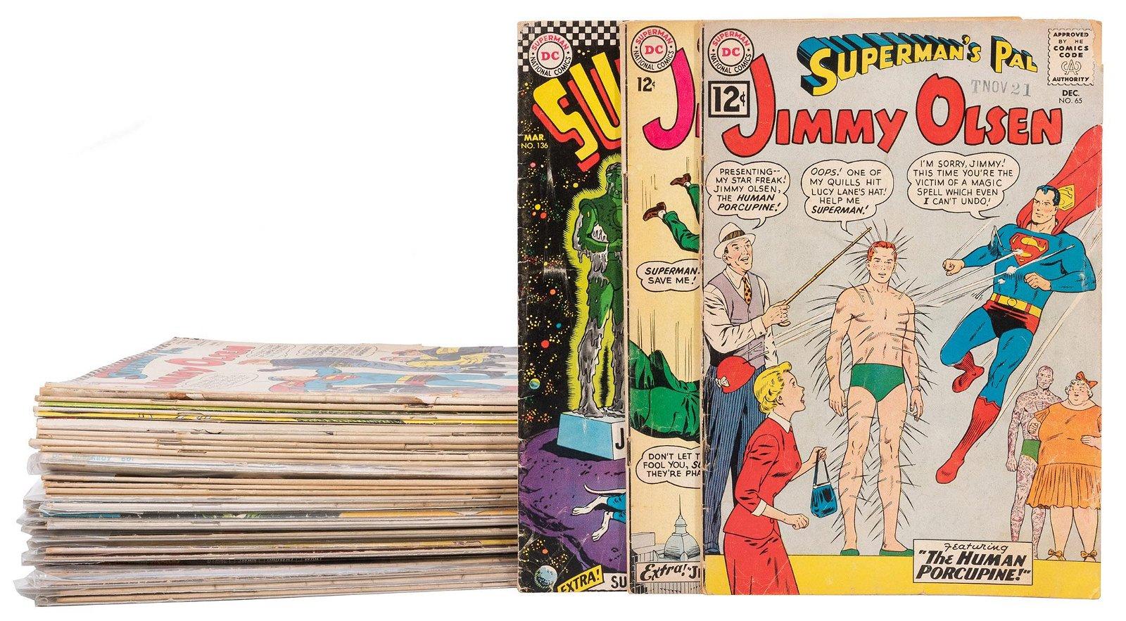 Group of 35 Superman Related Comics. DC Comics.