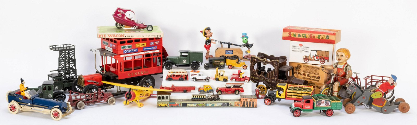 Large Group of Vintage Toy Cars. Includes two Nacoral