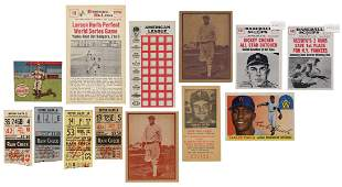 1920s-60s Baseball Card Collection. Predominantly New