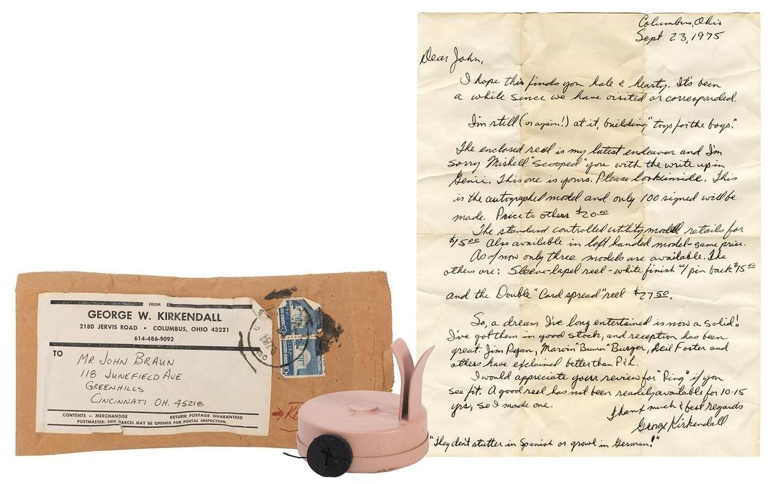 Kirkendall Autograph Model Finger Clip Reel. Columbus: