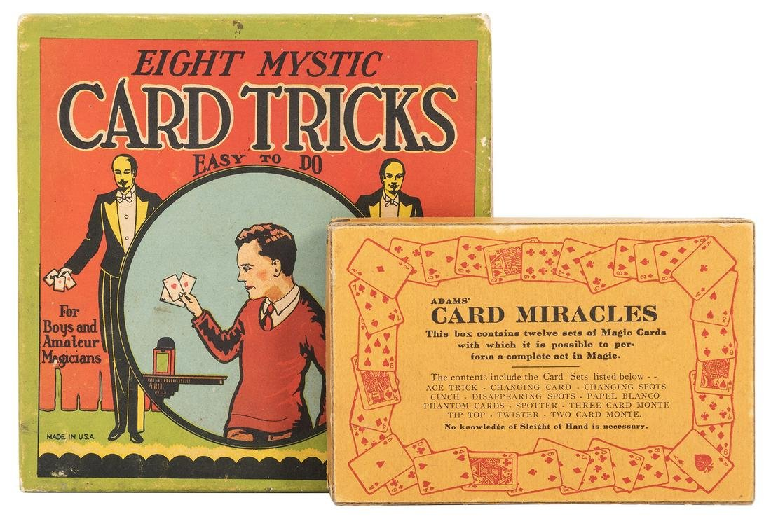 Two Vintage Card Magic Sets. Including Adams' Card