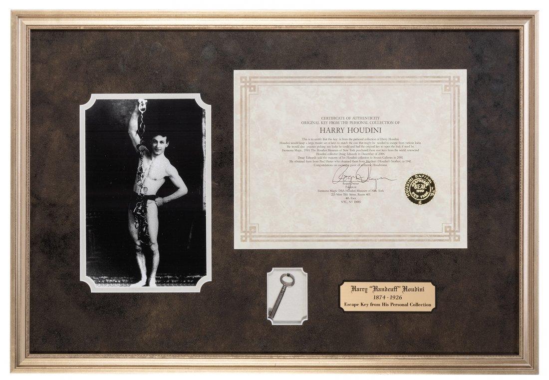 Houdini, Harry (Ehrich Weisz). Houdini-Owned Key. Circa