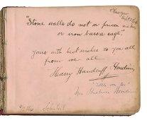 Houdini, Harry (Ehrich Weisz). Fantastic Autograph