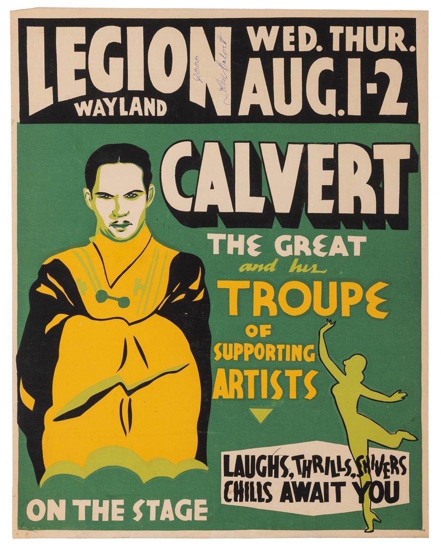 Calvert, John. Calvert the Great and His Troupe of