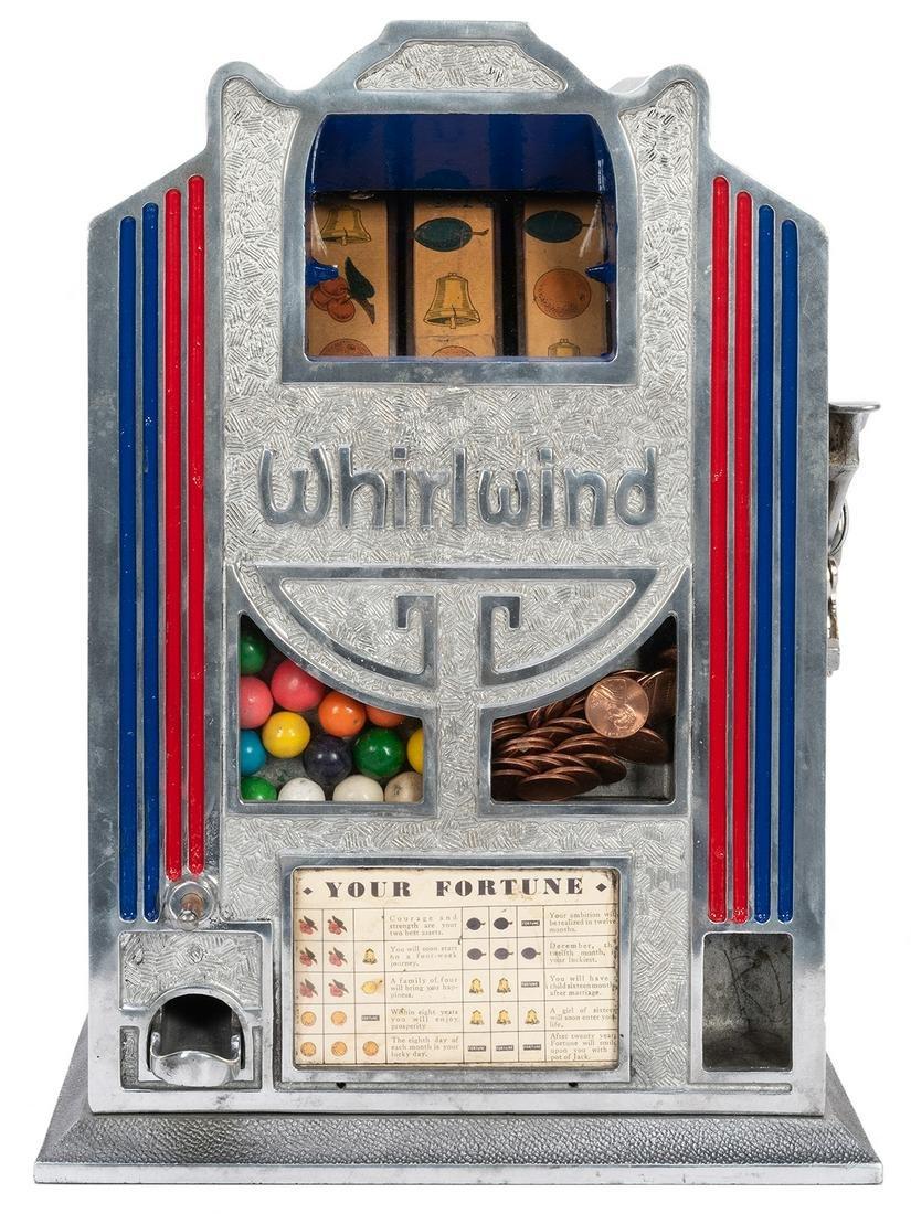 Whirlwind 1 Cent Trade Stimulator. Cast aluminum body.