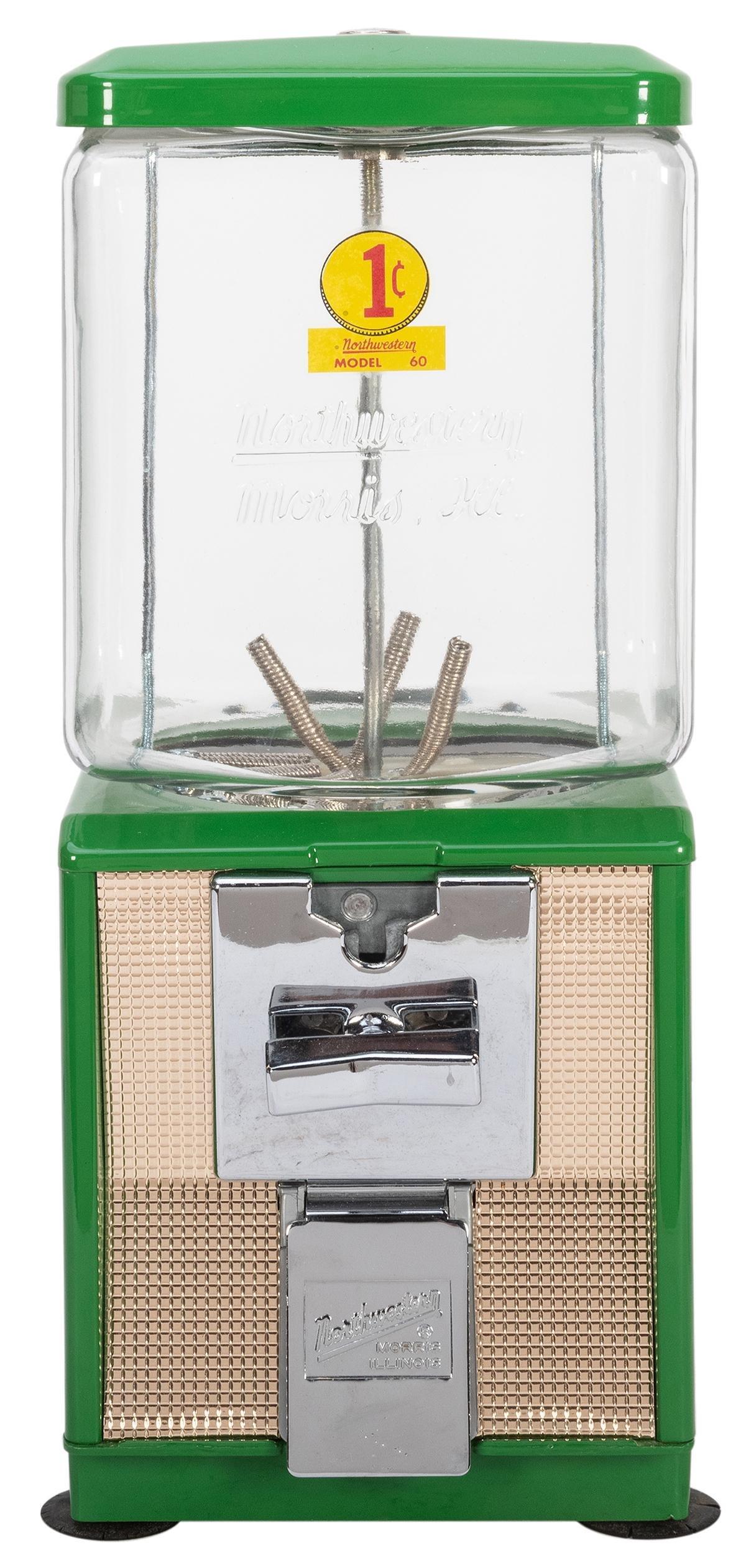 Northwestern Model 60 Gumball Machine. Morris, IL, ca.