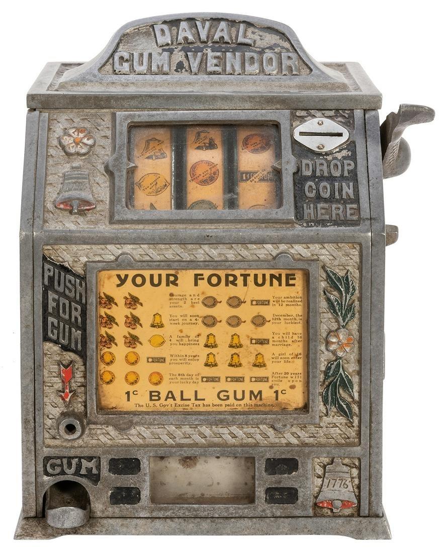 Daval Gum Vendor 1 Cent Trade Stimulator. 1932/33.