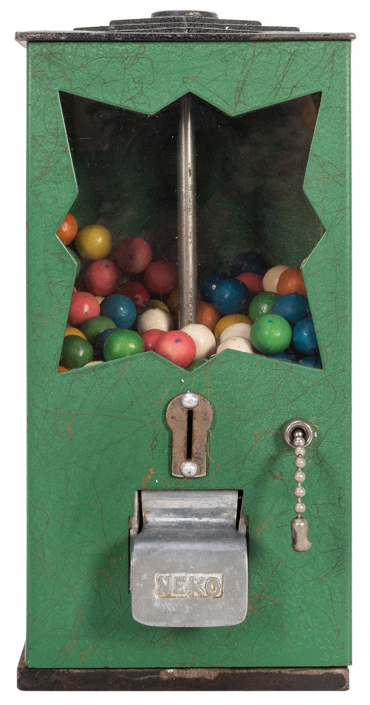 Neko Bulk Vendor. National Co., ca. 1935. Green metal