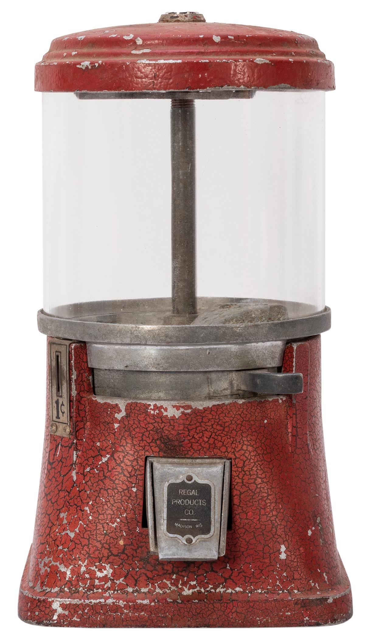 Regal Products 1 Cent Gum Ball Machine. Circa 1930s.