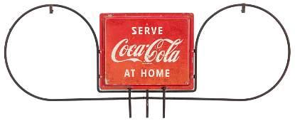 Serve CocaCola at Home Hanging Sign Circa 1960