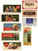 Lot of 10 Advertising Ink Blotters mostly CocaCola