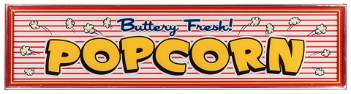 """""""Buttery Fresh! Popcorn"""" Lighted Sign."""