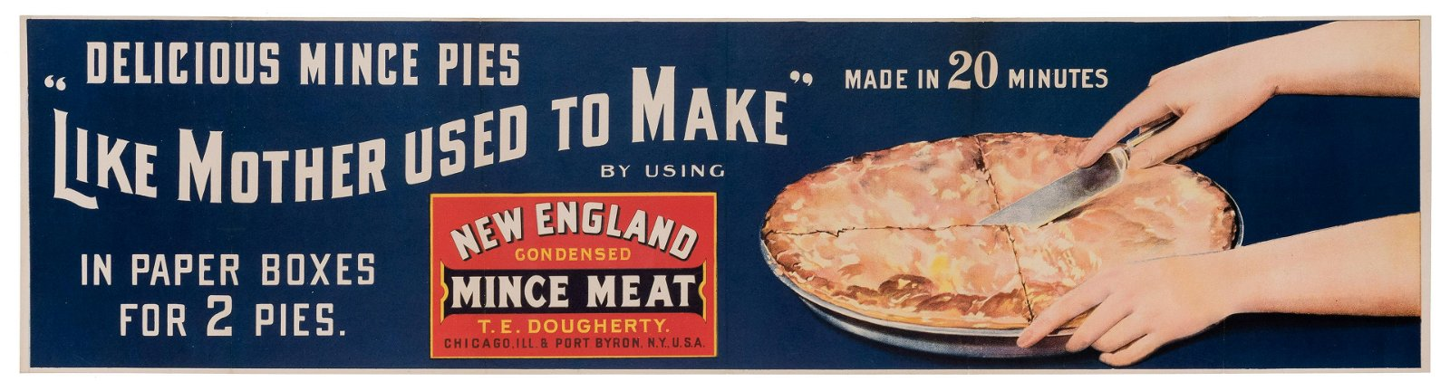 [Poster] New England Condensed Mince Meat. Chicago and