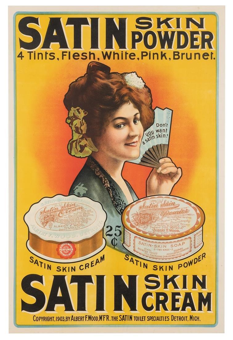 [Poster] Satin Skin Powder / Satin Skin Cream. Circa