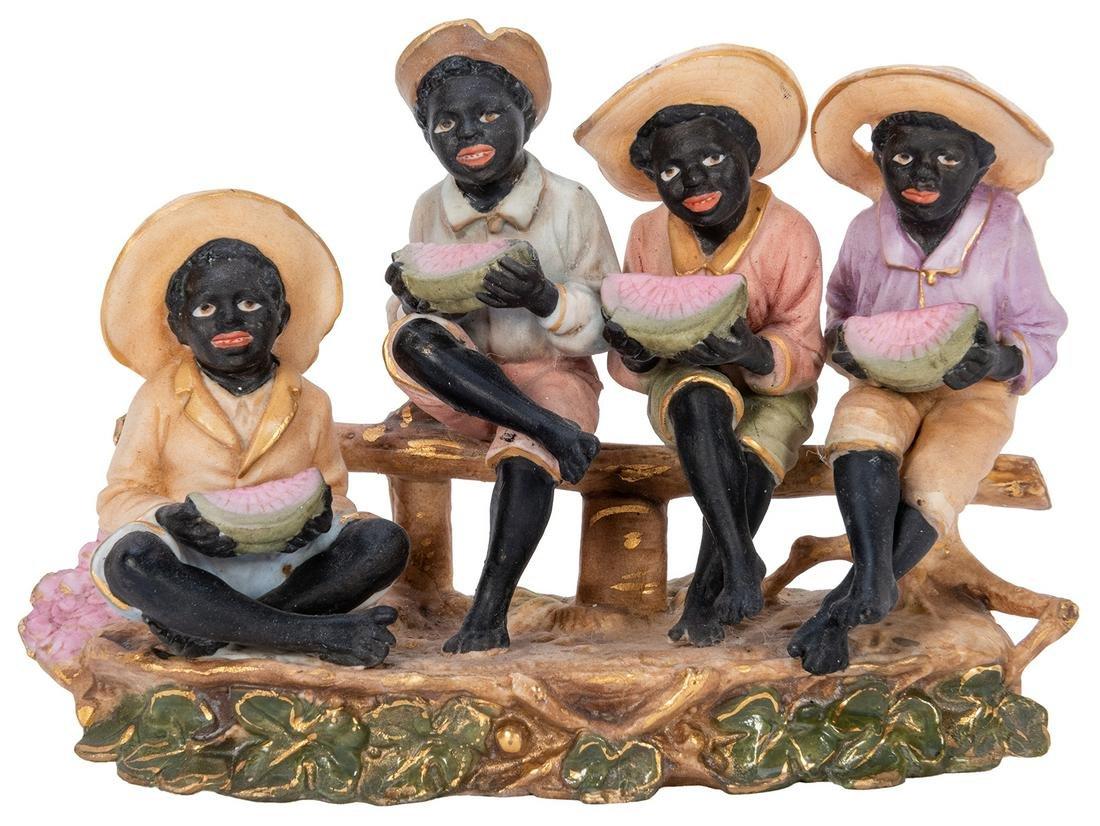 Schafer Vator Bisque Black Americana Boys Eating