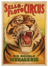 Sells-Floto Circus. Big Double Menagerie. Erie Litho,