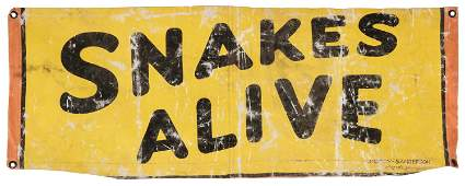Snakes Alive Partial Sideshow Banner. Augusta, GA: